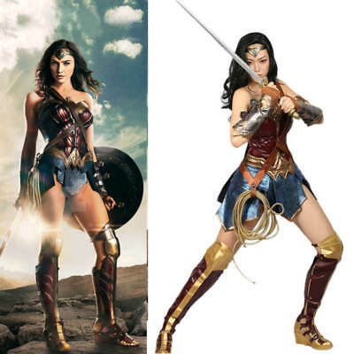 Hot Anime Avengers Wonder Woman Full Set Cosplay Costume Adult Leather Dress New](Anime Wonder Woman Costume)