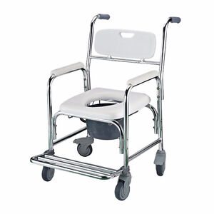 Commode Mobile Chair with 4 Brake Castors / Transit Commode