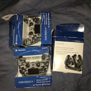 PS4 Controllers and dual charger