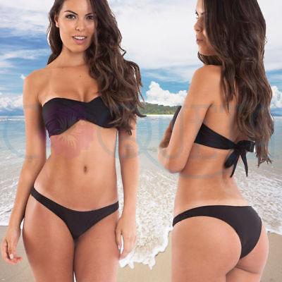 Coqueta Hipster Padded Bandeau Push-Up Sweet Heart Women Brazilian Bikini Set](Brazilian Dessert)