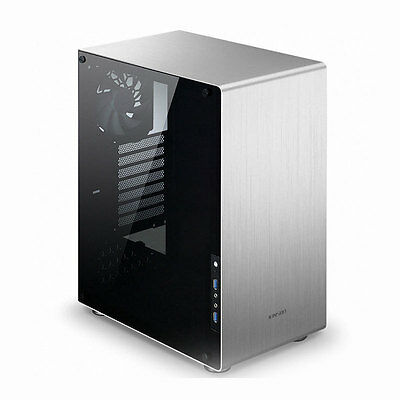 JONSBO U4 Silver Tempered Glass Middle Tower Computer Case