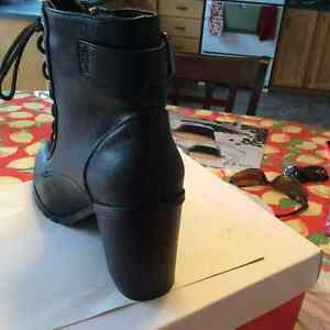 Brand new/never worn black zip/lace up boots $25 St. John's Newfoundland image 5