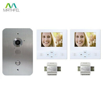 4 Draht Video Türsprechanlage mit 2 x 4\' Monitore