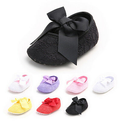 US Stock Infant Baby Girl Party Shoes Crib Shoes Anti-slip Prewalker Sandals