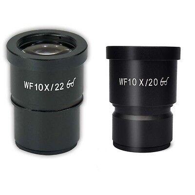 A Pair Wf10x22 Eyepiece F Stereo Microscope High Eye-point Wf10x20 Wide Field
