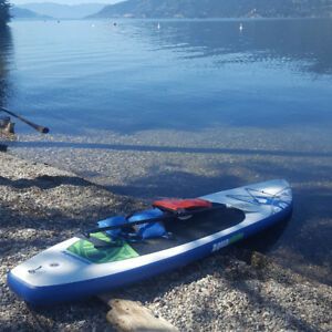 Aquaglide Cascade 12 ft SUP  inflatable board,  Vector paddle,