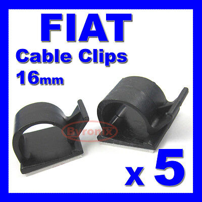 FIAT SELF ADHESIVE CABLE CLIPS WIRING WIRE LOOM HARNESS 16mm HOLDER CLAMP