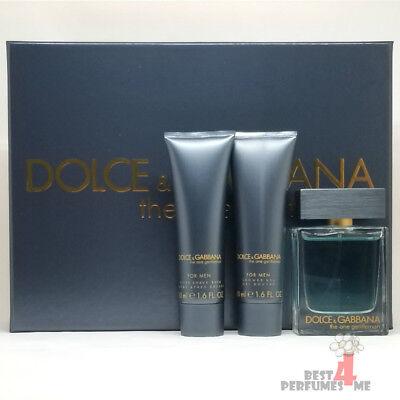 Dolce & Gabbana The One Gentleman Gift Set - 1.7oz EDT + 1.7 oz S/G +1.7 oz (Dolce And Gabbana The One Gentleman Gift Set)