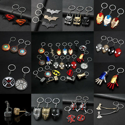 Superhero Batman Keychain Men Key Chain Key Ring Holder Jewelry Gift Pendant
