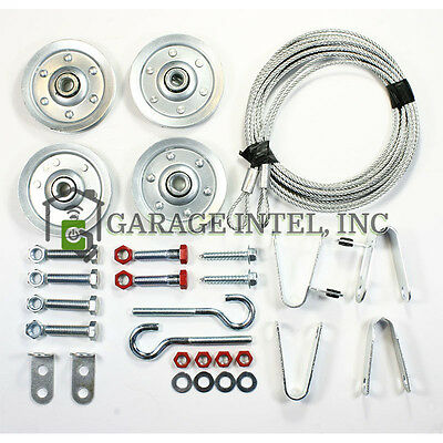 Extension Cable Kit - Extension Spring Pulley and Safety Cable Kit Containment and Sheave Garage Door