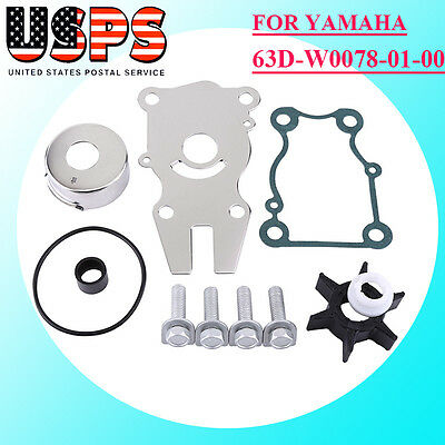 Yamaha 63D-W0078-01-00 Water Pump Impeller Repair Kit F40/F50/F60hp Outboard H36
