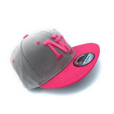 Snapback Cappy Cap Kappe Mütze Kinder Basecap NY New York Pink Kids klein süß US