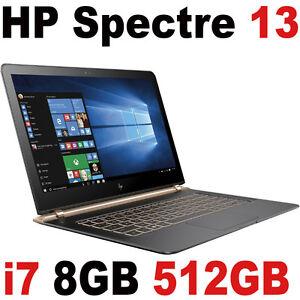 2016 HP Spectre 13 512GB SSD Luxe Copper Ash i7-6500U 13.3