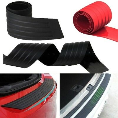 Black For Car SUV Rear Trunk Sill Plate Bumper Guard Protector Rubber Pad Cover