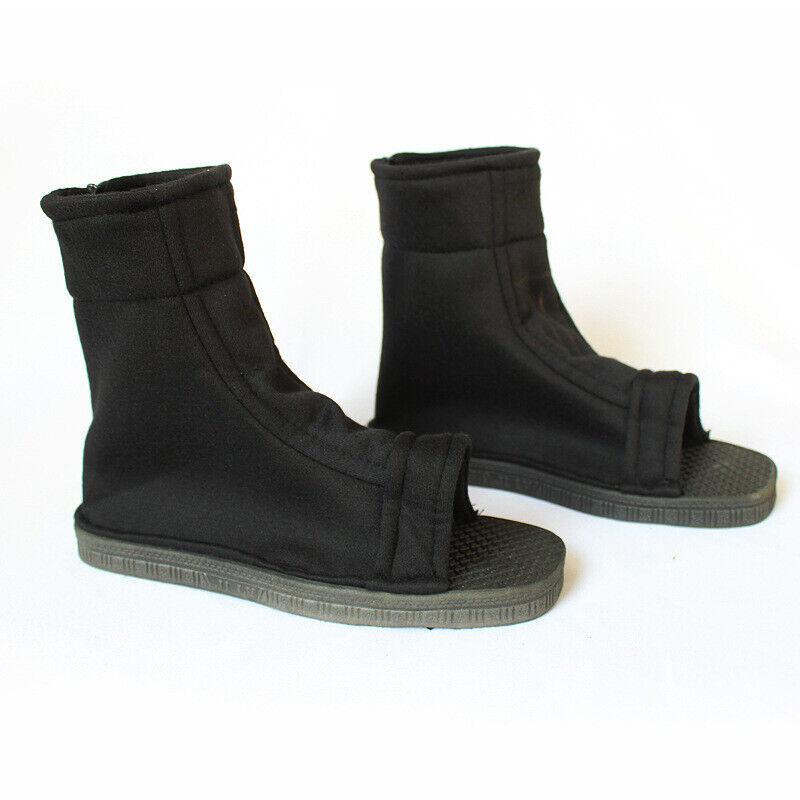 Anime Naruto Uchiha Sasuke Ninja Shoes Cosplay Boots Size 36-45 Black/Bule Adult