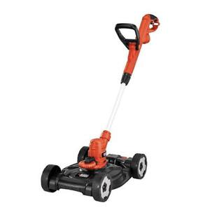 Black & Decker 6.5A 3-in-1 Electric Compact Mower/Grass Trimmer, 12-in (MSRP $149.99) - Model MTE912