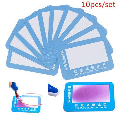 10Pcs/set Anti Blue Light Purple Test Card For Glasses Reusable Polarized (Polarized Glasses Test)