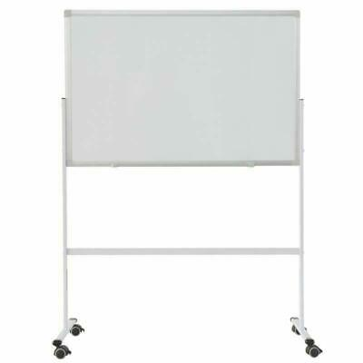 36 Dry Erase Stand Magnetic Double Sided Whiteboard Rolling Wheels Commercial