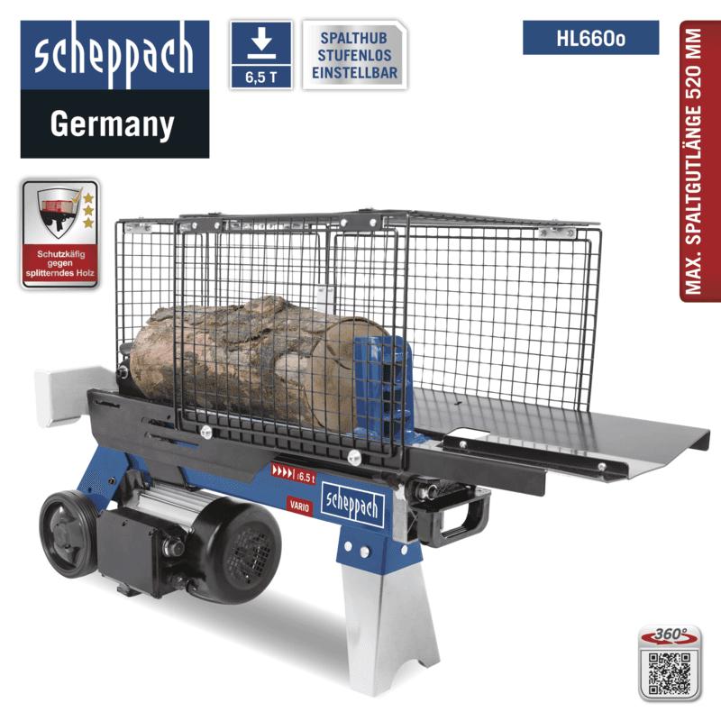 scheppach Holzspalter HL660o liegend Spalter 6,5T Hydraulikspalter