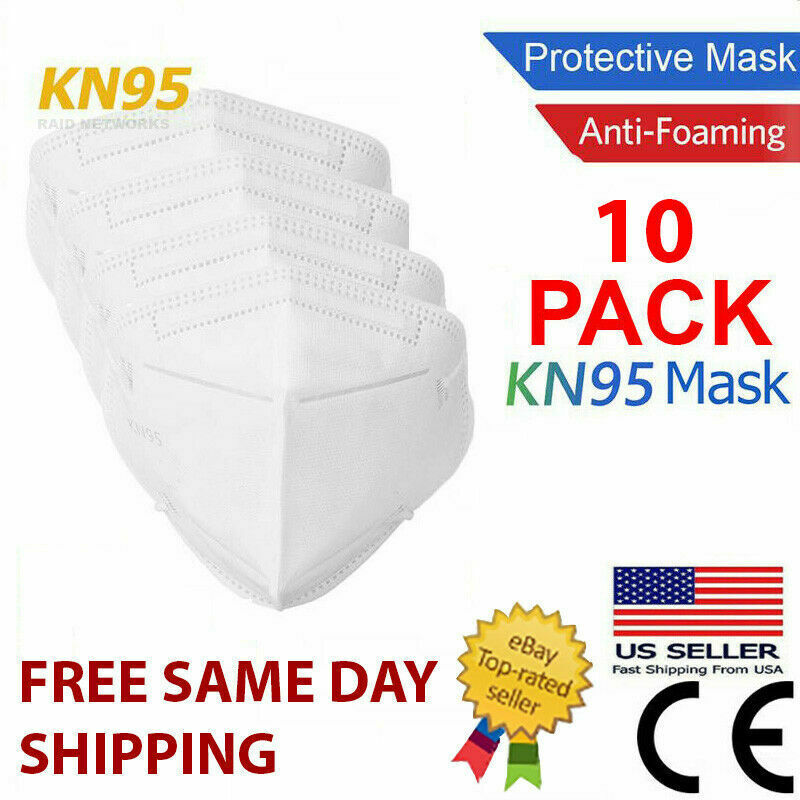 10 Pack KN95 MEDICAL Face Mask Cover Protection Respirator Masks KN 95 5-Layer