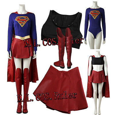 2017 Movie Superhero Supergirl Kara Zor-El Danvers Cosplay Costume Halloween COS - Superhero Halloween Costumes 2017