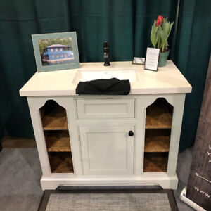 Custom Designed and Hand-Crafted Bathroom Vanity
