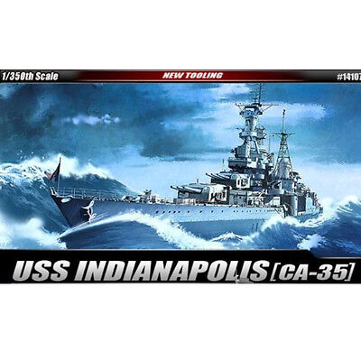 [Free Shipping] ACADEMY 14107 Model kit 1/350 USS CA-35 Indianapolis #14107
