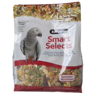 ZuPreem Smart Selects Bird Food for Parrots & Conures in 4 lb. or 15 lb. (Bird Food 4lb Bag)