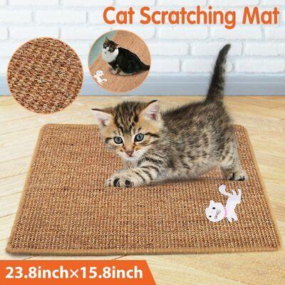 Cat Scratching Mat Natural Sisal Scratcher Post Hammock Protect Carpets & Sofa
