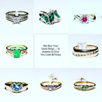 WE BUY & give you a loan & CASH TODAY on your GOLD RINGS Jewlry