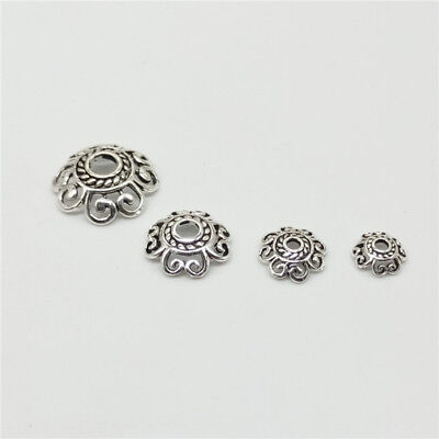(15 of 925 Sterling Silver Hollow Spiral Bead Caps for Bracelet Bead Spacers)