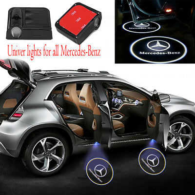 Led Ghost (2PCS Wireless For Mercedes Benz Car LED Door Projector Logo Ghost Shadow)