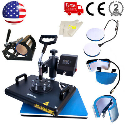 15x12 Combo 5in1 Heat Press Sublimation Transfer Machine Swing Away T-shirt Mug