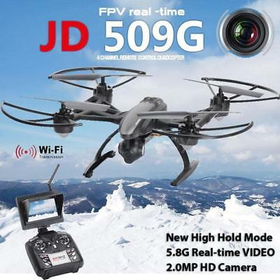 JXD 509G FPV RC Drone Quadcopter 5.8G 4CH 6-Axis with 2.0MP HD Camera S1U1