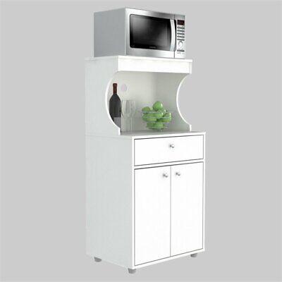 Inval GALLEY Kitchen/Microwave Storage Cabinet in White