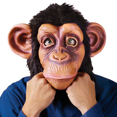 Halloween Cosplay Adult Costume Gorilla Big Eared Monkey Animal Head Mask Toys (Gorilla Mask Costume)