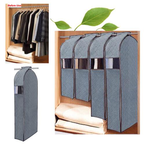 garment suit dress clothes coat wardrobe hanging storage bag dustproof protector. Black Bedroom Furniture Sets. Home Design Ideas