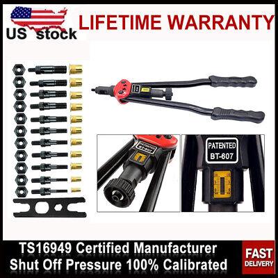 Rivet Gun Kit Rivnut Setting Tools Nut Setter Tool Hand Blind Riveter Gun 16