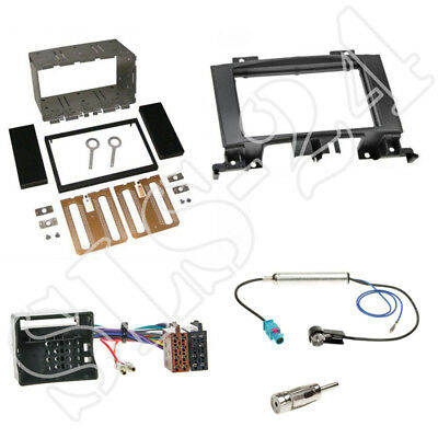 MERCEDES SPRINTER W906 ab06 Doppel 2-DIN Radioblende ISO Adapter Antenne Stecker