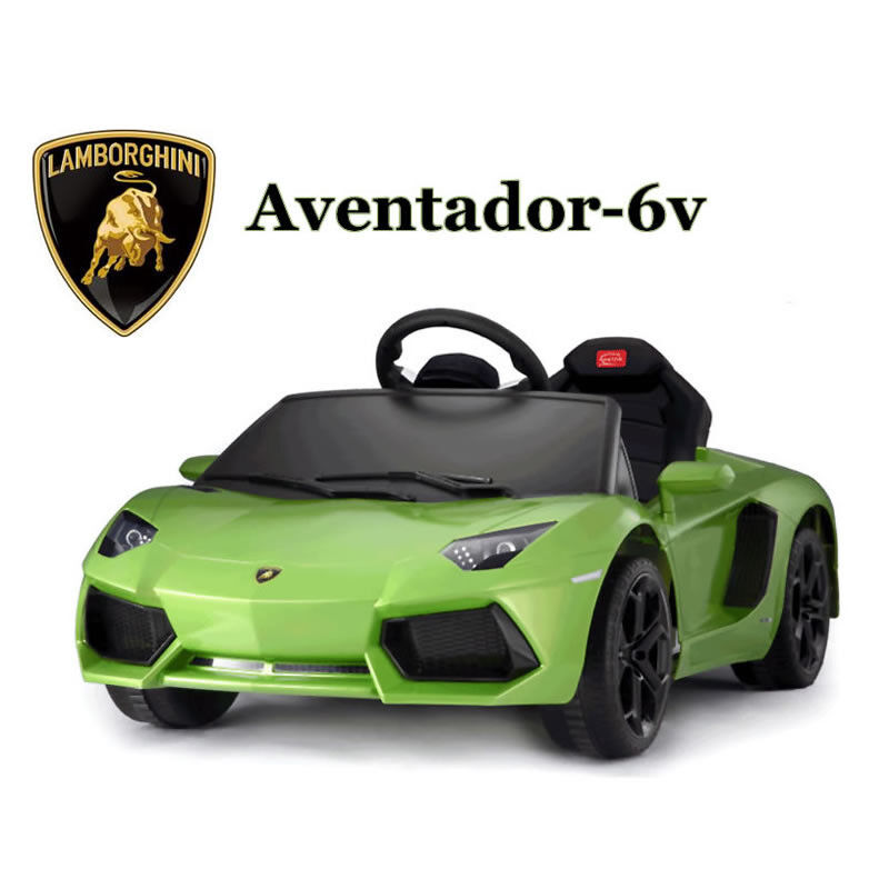 Licensed Aventador 6V Electric Ride on Car with Remote - Green