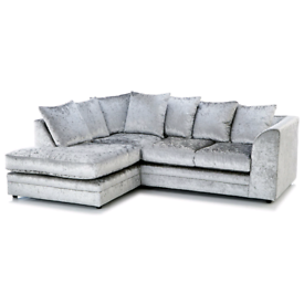 Brand New Crushed Velvet Corner 3+2 sofa