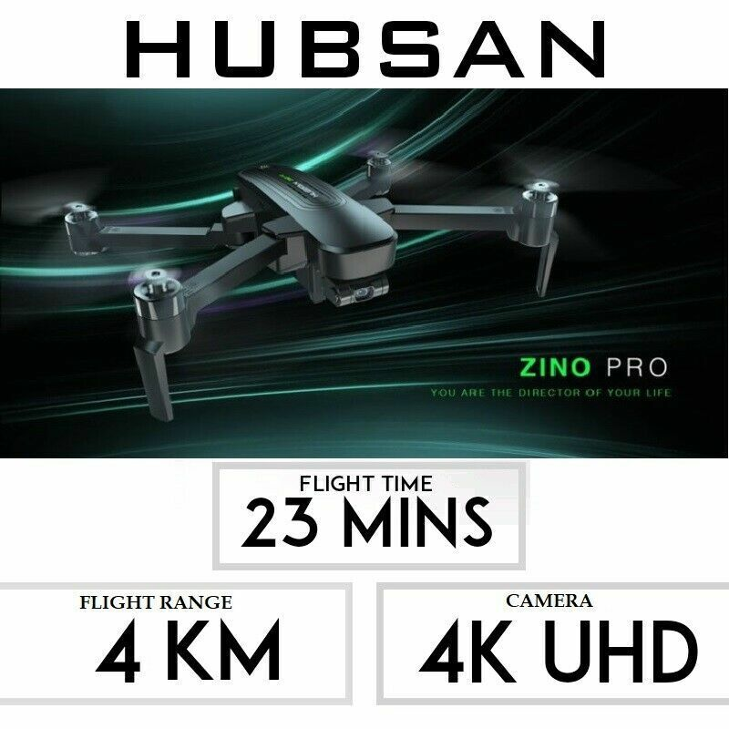 Hubsan Zino PRO FPV  Drone 5G 4K GPS Quadcopter Brushless 3G