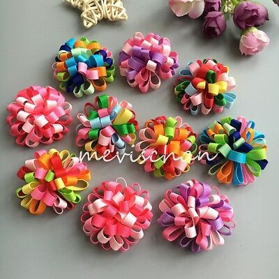New puppy ball Boutique flower dog hair bow clips/rubber bands pet - Bow Rubber Bands