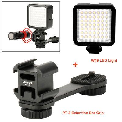 PT-3 L Bracket Triple + W49 LED light for zhi yun DJI Osmo Microphone Mobile 2