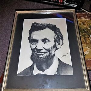 Original Signed Portrait of Abraham Lincoln