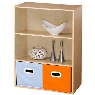 Furinno Pasir 3 Tier Open Shelf, Steam Beech 11208SBE Storage Shelf NEW