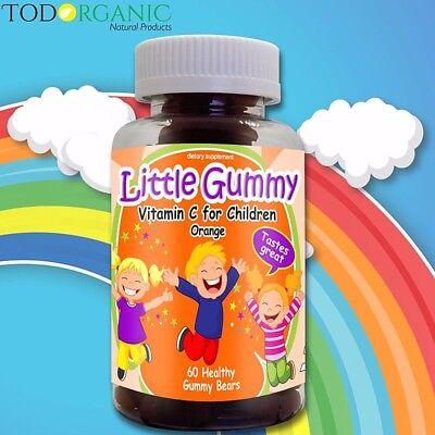 Olvidate de la Gripe!!!  VITAMINA C para Niños!!  (60 Gomitas) 100% Natural