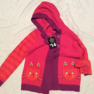 Brand new size 5 kitty sweater