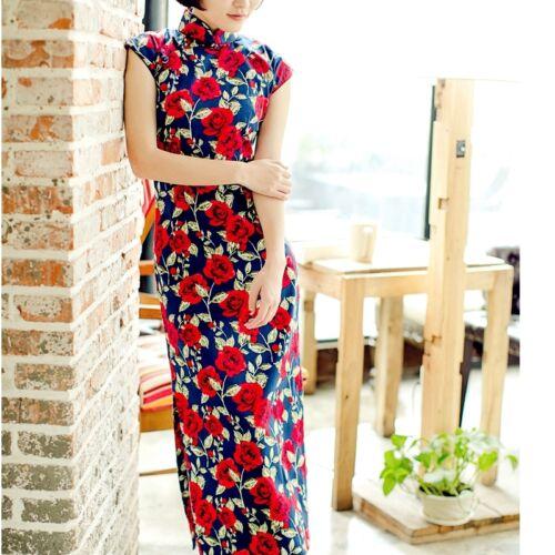Chinese Cheongsam Cotton Qipao Dress Vintage Clothing Stores Near Me HongYan