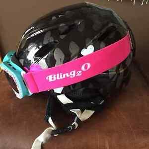 Girl Giro Helmet Small & Bling Goggles